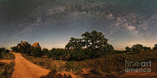Milky Way Arch Over Enchanted Rock State Natural Area - Fredericksburg Texas Hill Country Poster