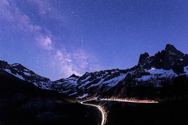 Milky Way At Washington Pass Poster
