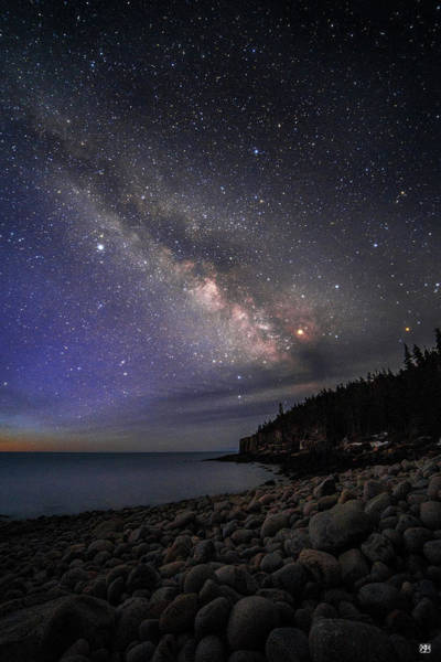 Milky Way Over Boulder Beach Poster