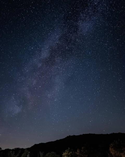 Milky Way Over Lake Henshaw Poster
