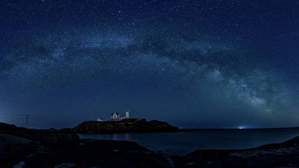 Milky Way Over Nubble Poster