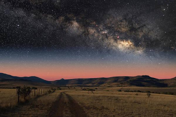 Milky Way Over Texas Poster