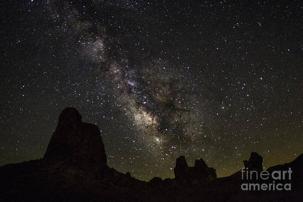 Milky Way Over Trona Pinnacles Poster