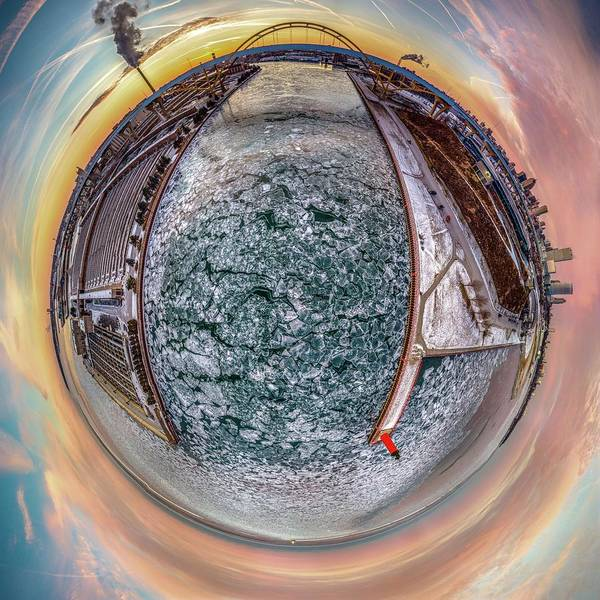 Milwaukee River Little Planet Poster