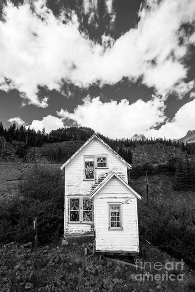 Mining Home In Silverton In Black And White Poster