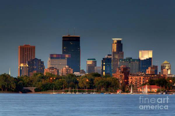 Minneapolis Skyline Photography Lake Calhoun Summer Evening Poster