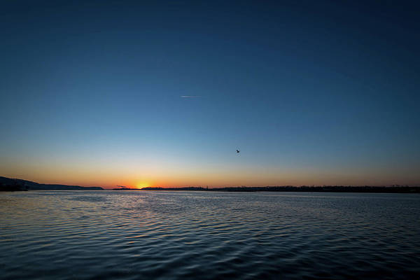 Mississippi River Sunrise Poster