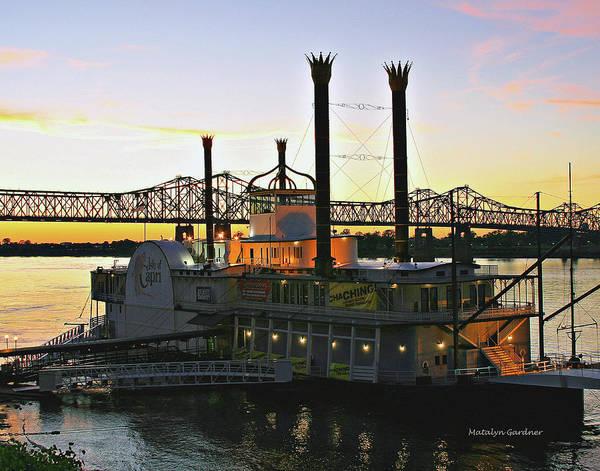 Mississippi Riverboat Sunset Poster