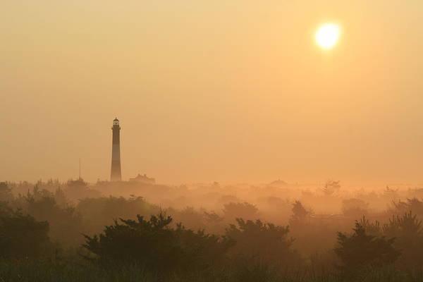 Misty Morning Fire Island Light Poster
