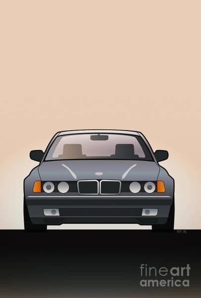 Modern Euro Icons Series Bmw E32 740i  Poster