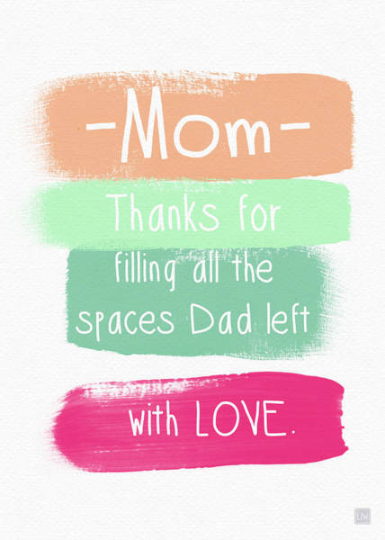 Mom On Father's Day- Greeting Card Poster