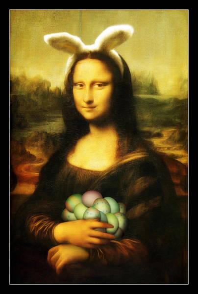 Mona Lisa Easter Bunny Poster