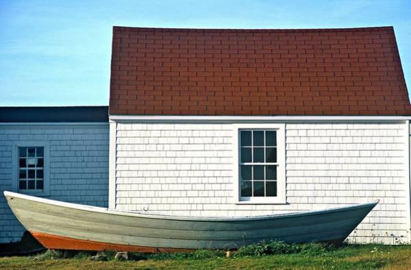 Poster featuring the photograph Monhegan Boat by AnnaJanessa PhotoArt