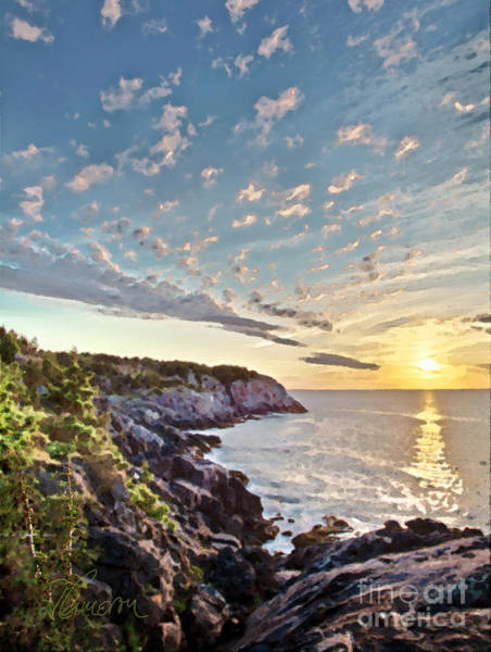 Monhegan East Shore Poster