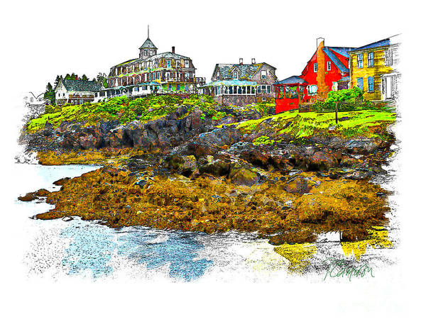 Monhegan West Shore Poster