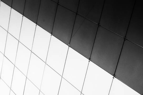 Monochrome Building Abstract 3 Poster