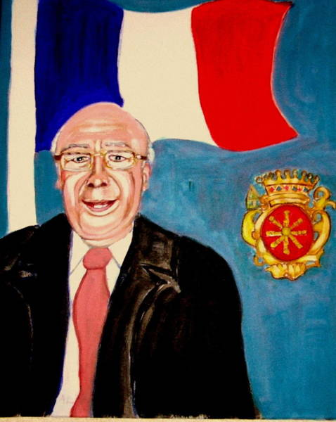 Monsieur Jean Claude Darque. Le Maire De Auchy Les Hesdin Poster