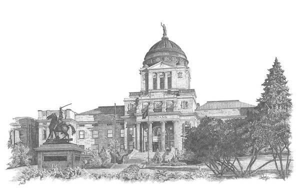 Montana's Capitol Poster