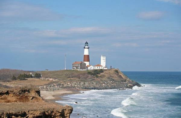 Montauk Lighthouse View From Camp Hero Poster