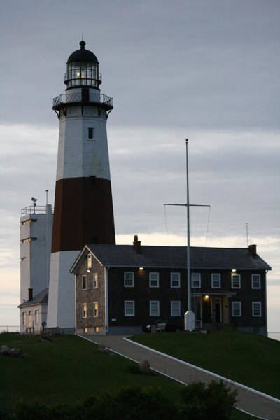 Montauk Point Light At Dawn Poster