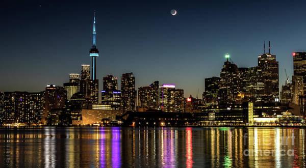 Moon Over Toronto Poster