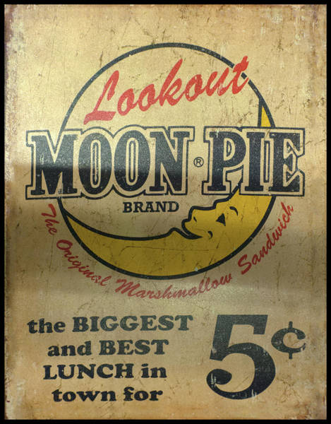 Moon Pie Antique Sign Poster