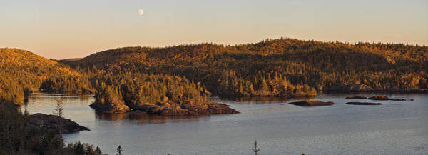 Moon Rise Over Pukaskwa Poster