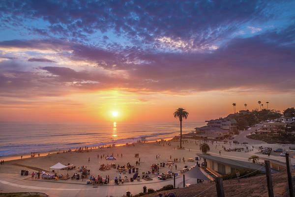 Moonlight Beach Sunset Poster