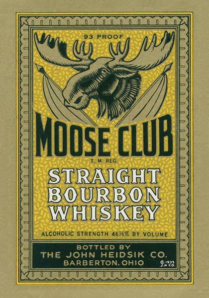 Moose Club Bourbon Label Poster
