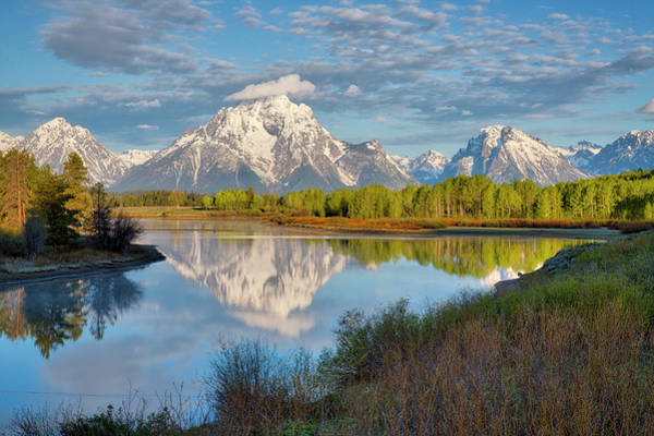 Morning At Oxbow Bend Poster