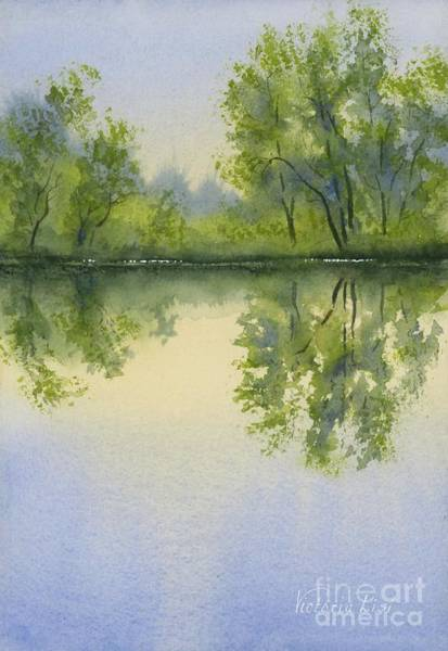 Morning At Turtle Pond Poster