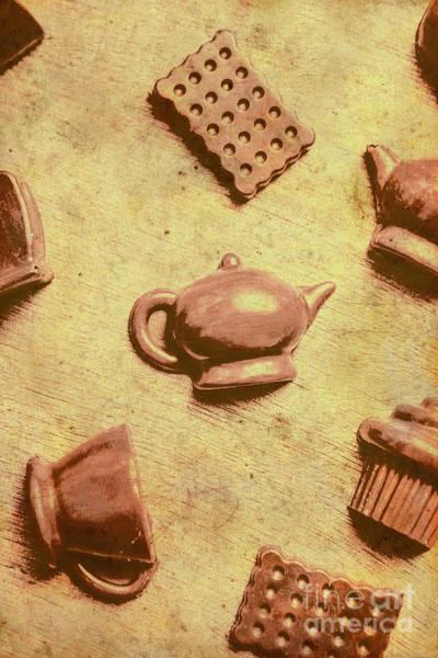 Morning Breakfast Chocolate Tea Set  Poster