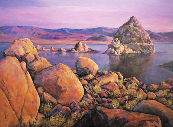 Morning Colors At Lake Pyramid Poster