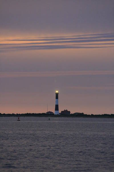Morning Flash Of Fire Island Light Poster