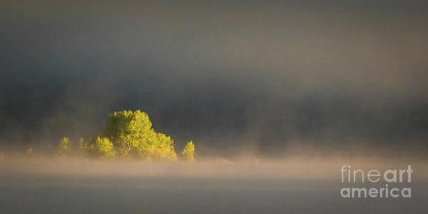 Morning Fog On Jackson Lake Grand Teton National Park  Poster