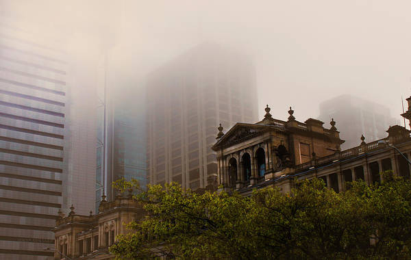 Morning Fog Over The Treasury Poster