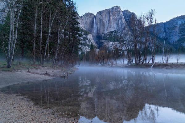 Morning Fog Yosemite Falls Poster