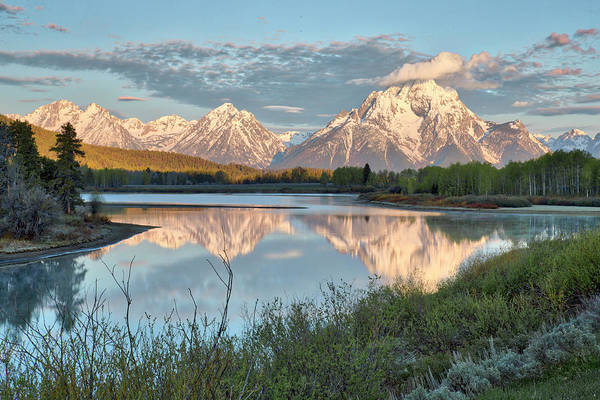 Morning Light At Oxbow Bend Poster