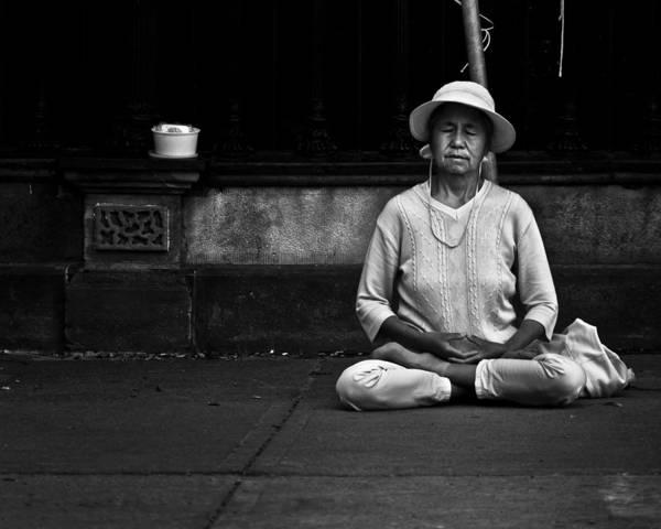 Morning Meditation At Toronto City Hall Poster