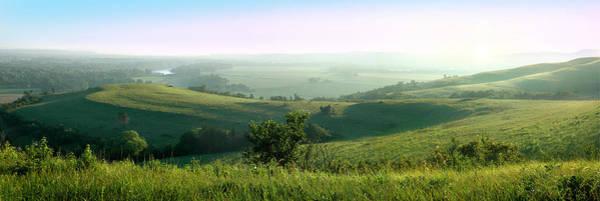 Morning Mist - Kansas River Valley Poster