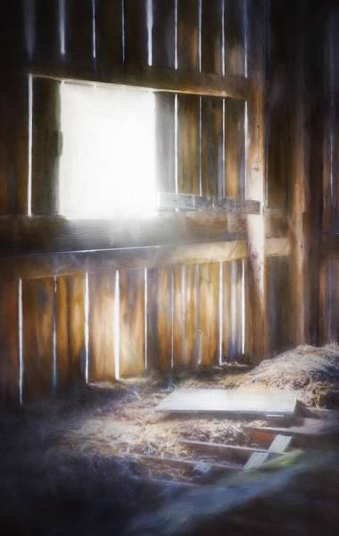 Morning Sun In The Barn Poster
