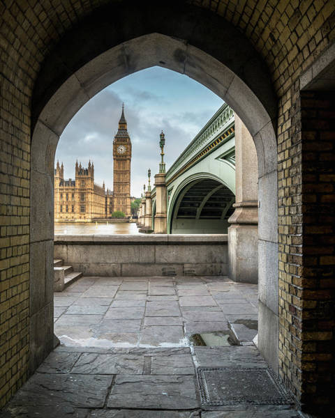 Morning View Of Big Ben Poster