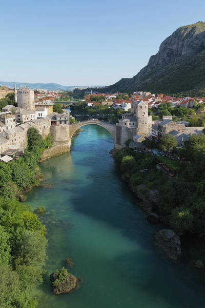 Mostar, Bosnia And Herzegovina.  Stari Most.  The Old Bridge. Poster