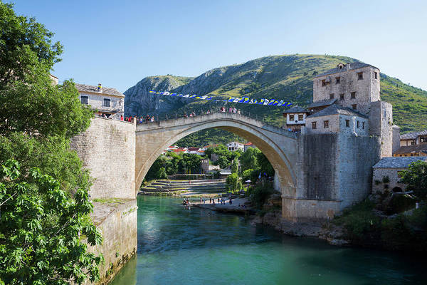 Mostar, Bosnia And Herzegovina. The Old Bridge. Poster