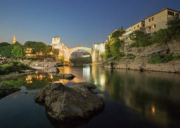 Mostar By Night Poster