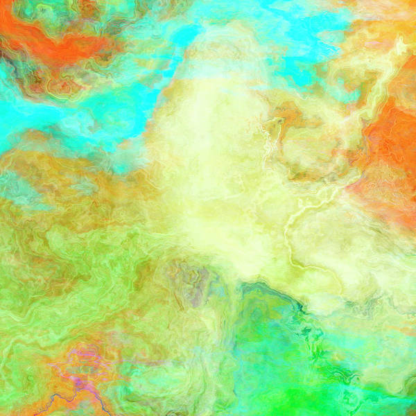 Mother Earth - Abstract Art - Triptych 1 Of 3 Poster