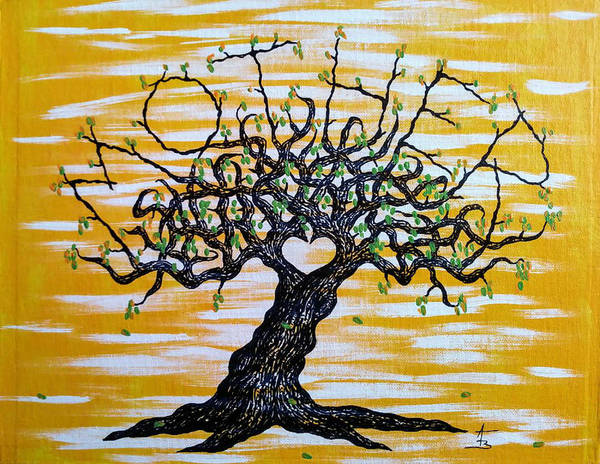 Poster featuring the drawing Mother Love Tree by Aaron Bombalicki