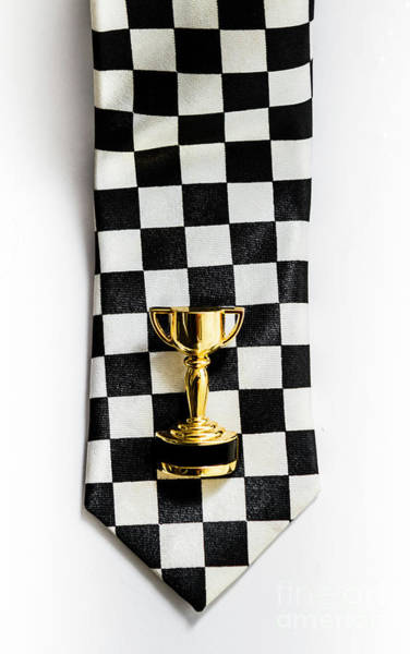 Motor Sport Racing Tie And Trophy Poster
