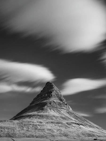 Mount Kirkjufell In Iceland Under The Sky Poster