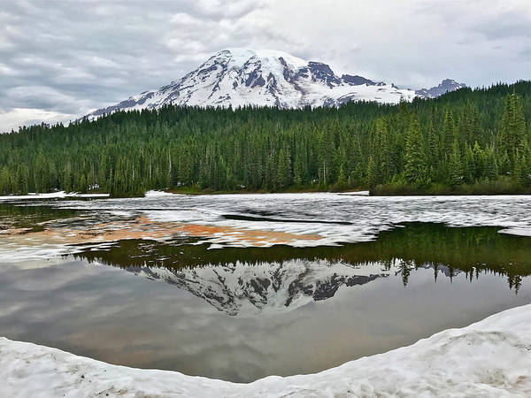 Mount Rainier From Reflection Lakes Poster